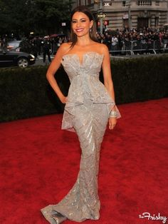 Sofia Vergara in Marchesa at Costume Institute Gala