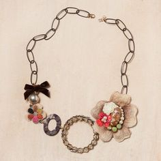 Flower Collage Necklace now featured on Fab.