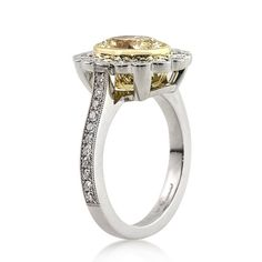 3.09ct Fancy Yellow Oval Cut Diamond Engagement by MarkBroumand