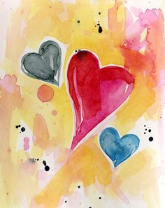 , Watercolour by Kathy Morton Stanion on Artfinder. Watercolor Heart, Easy Watercolor, Watercolor Paintings, Original Paintings, Valentines Watercolor, Valentines Art, Valentine Day Cards, Heart Painting, Heart Art