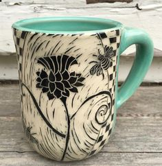 There are bees on this mug!