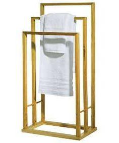 Beautiful Bamboo Wood Wooden 3 Tier Towel Rail