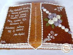 Ballagási grillázstorta könyv Dessert Recipes, Desserts, Cookies, European Style, Communion, Cake, Noel, Tailgate Desserts, Crack Crackers