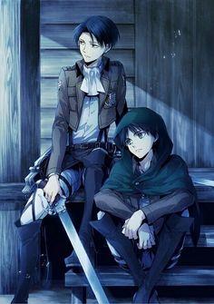 Imagen de shingeki no kyojin, anime, and levi