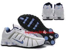 c15b33b1358 New Arrived Nike Shox NZ 3th O-leven Women White Blue Running Shoes Nike  Shox
