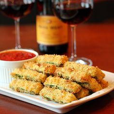 Tasty and lightly baked, these breaded zucchini fries are a delicious appetizer before an Italian-themed dinner! Easy to throw together and succulently healthy!