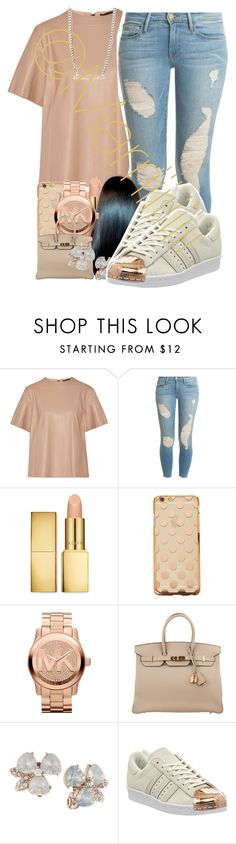 """"" by marriiiiiiiii ❤ liked on Polyvore featuring Belstaff, Frame Denim, AERIN, Michael Kors, Hermès, Anne Klein, adidas, Loren Stewart, women's clothing and women"
