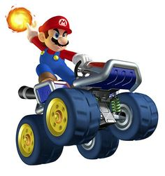 Mario - Fireball - Characters  Art - Mario Kart 7.jpg