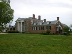 Sabine Hall, near Warsaw, was built by Robert Carter, for his son Landon, in 1730. Built on a hill, a mile from the Rappahannock, commanding an extensive view of the river and overlooking most of the four-thousand-acre estate. The home has a five-terraced garden laid out by an English landscapist when the home was built.