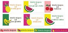 Etiqueta escolar Frutinhas - digital