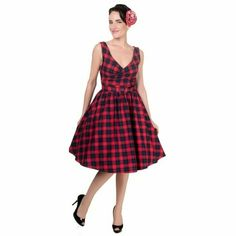 Dolly And Dotty Tartan Swing Dress