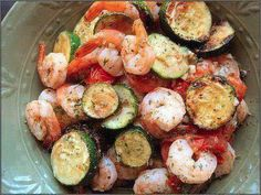 Shrimp with Zucchini & Tomatoes Weight Watchers = 3 points per serving