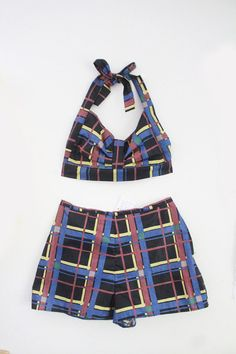 Penny Dark Plaid 50s Style Lolita Twin Set With by wewerewarriors, $78.00