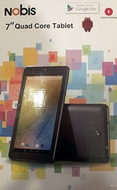 "Nobis 7"" Quad Core Tablet Black Android 4.4 Kit Kat 8gb Nb7022 Dual Cams Wifi Skype Netflix Nobis"