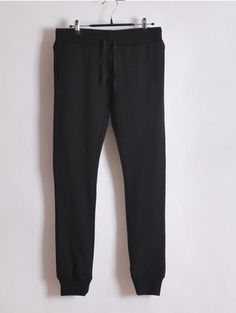 Women Summer Casual Long Pencil Pants Black Cotton M/L/XL@WH0102b