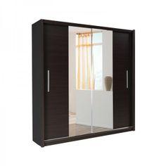 Richmond 2 Door Sliding Wardrobe - Mirror - MDF Oak or Wenge