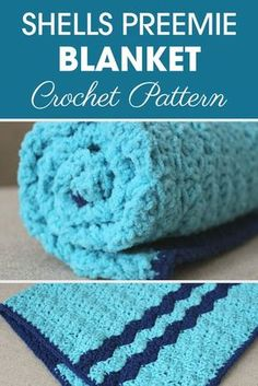 This Shells Preemie Blanket Crochet Pattern is great to make for any little one (girl or boy) in the NICU.