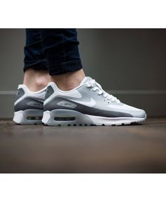 the best attitude f6490 1413d Nike Air Max 90 Ultra Breathe Light Grey Shoes Sale
