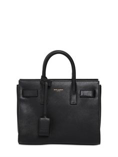 Saint Laurent Baby Sac du Jour in Black.