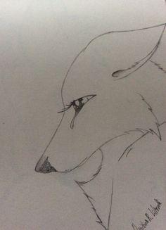 Sad; drawing by ArtWolf