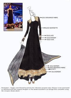 DIY Georgette Ankle Length Anarkali Suit