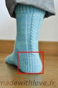 Tuto en français chaussettes en partant de la pointe