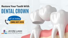 If you have a damaged or lost tooth, a dental crown can provide you with a new tooth that replicates a natural tooth in aesthetics, chewing support, and protection. To schedule an appointment, contact our dentist at Jennifer Lopez Dental or call today @ Emergency Dentist, Dental Cosmetics, Dental Crowns, Family Dentistry, Root Canal, Dental Services, Cosmetic Dentistry, Naturally Beautiful