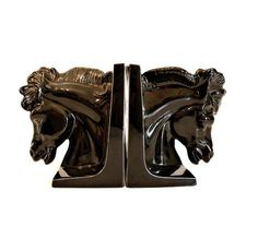 Hollywood Regency Horse Bookends.
