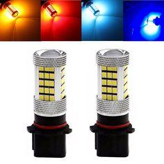 2X White 27 SMD LED Turn Signal Daytime Running Light Bulb DRL Clear Lens Set