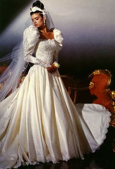 This was my wedding dress. Aug 1988. Eve of Milady.