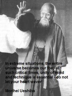 Aikido and the vision of foes, Ueshiba sensei