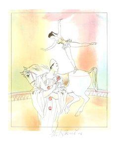 Pierrot and Equestrienn - Karel Beneš