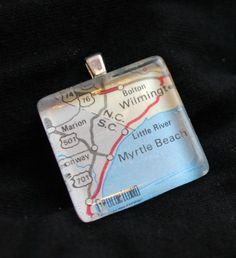 Map Tile Necklace tutorial