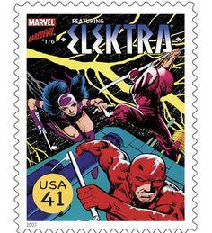 US Stamp - Marvel Comics Superheroes Elektra