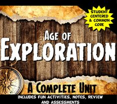 Exploration Complete Unit Bundle: Age of Exploration Lesson PLans Teacher Pay Teachers, Teacher Resources, Ma In Education, Teaching Credential, Common Core Activities, Reading Stations, Grades, Teaching Style, Common Core Reading