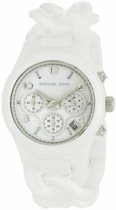 Michael Kors Women's MK5387 Ceramic Classic Chronograph White Watch Michael Kors. $287.99. Ceramic. Glossy white dial. New materials are all the trend in watches; Michael Kors reinvents the best sellers. Chronograph function. Water-resistant to 165 feet (50 M). Save 36%!