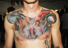 Tattoo Artist - Semyon Seredin | www.worldtattoogallery.com/chest_tattoos