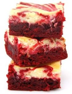 OMG Red Velvet Cheesecake brownies!
