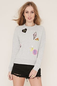 Patch Graphic Pullover   Forever 21 - 2000153442
