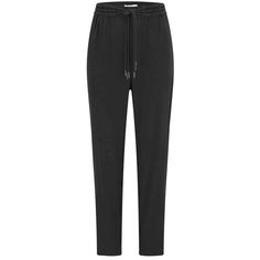 Stylish black jogger pants - comfy for work but put together