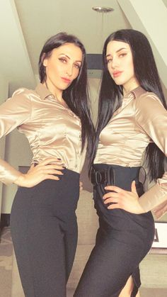 Great Minds Think Alike, Turn Up, Strong Hair, Satin Blouses, Beautiful Blouses, Mistress, High Waisted Skirt, Leather Pants, Silk