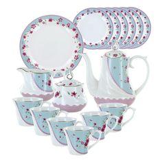Azure Florets Deluxe Porcelain Tea Set #EnglishTeaStore
