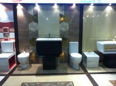 Porcelanite Dos products exposed by QORTOBA DOHA in the Qatar trade show.