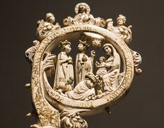 Epiphany Crozier  Detail  from a  Medieval ivory  crozier in the Victoria y  Albert Museum.