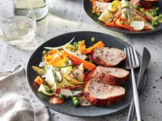 Pan-Roasted Pork with Baby Vegetable Salad | Maintaining a healthy weight or trying to lose a few pounds ultimately revolves around the science of counting calories. It's a tedious task to tabulate every morsel you put in your mouth, but there's a simpler and much more flexible strategy: Start a file of skinny recipes. Use this collection of low-calorie dinners as a starting point. As always, taste comes first, so we've pulled together our best recipes that are big on flavor and in step with…