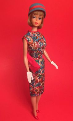 """American Girl Barbie wearing """"Outdoor Art Show."""" From the collection of Russell Gandy."""