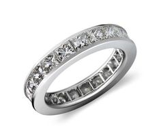 Blue Nile Channel-set Diamond Eternity Ring In Platinum (1 Ct. Tw.) $1,875