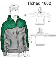 Generous revitalized men's fashion classy visit our website Fashion Design Template, Fashion Design Sketches, Sewing Men, Clothing Sketches, Mode Streetwear, Hoodie Outfit, Jacket Pattern, Mens Sweatshirts, Clothing Patterns