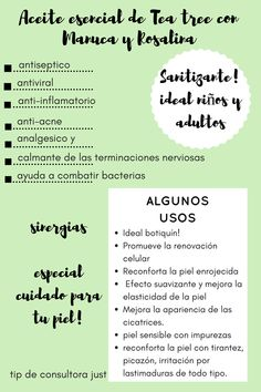 quotes/tips/aceites esenciales/aromaterapia siempre Tea Tree, Young Living, Doterra, Santa Fe, Essential Oils, Spa, Relax, Chill Pill, Mariana