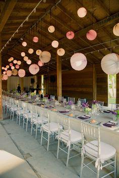 of purple and pinwheels. design by iittle blue box weddings.